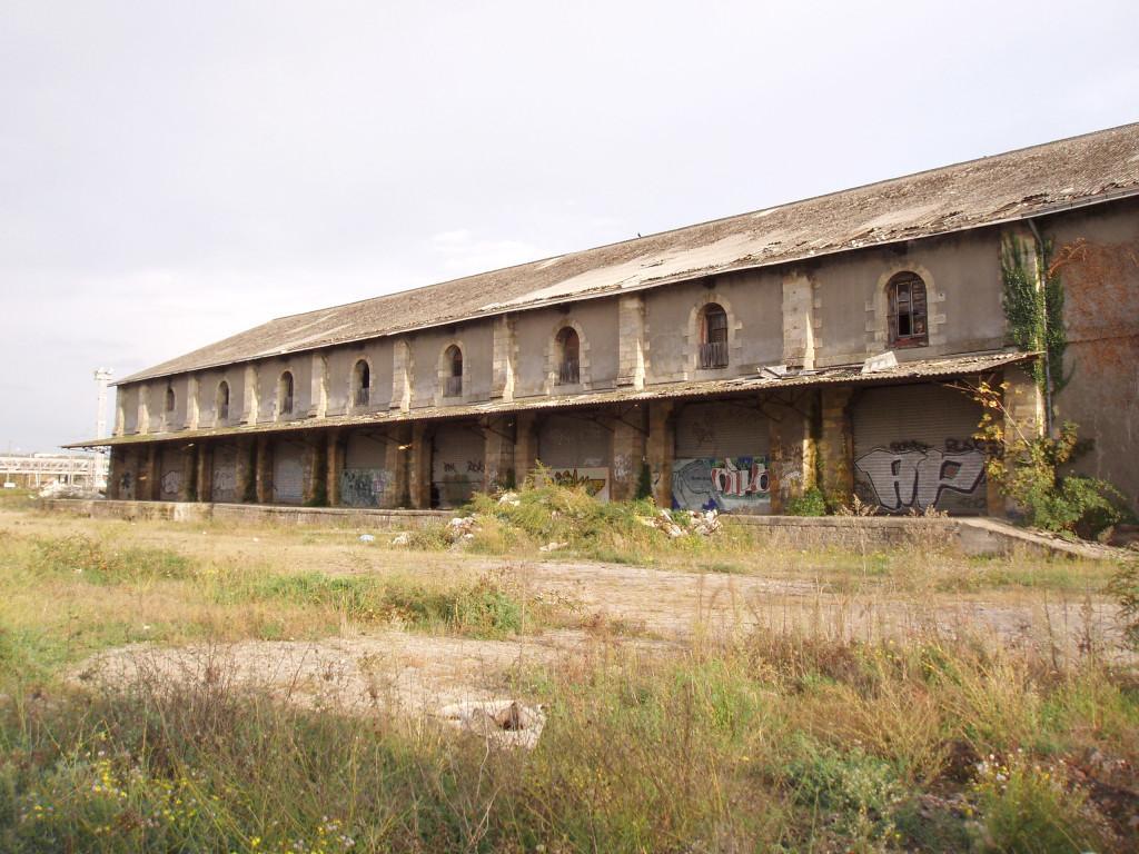 Halle des MG, façade