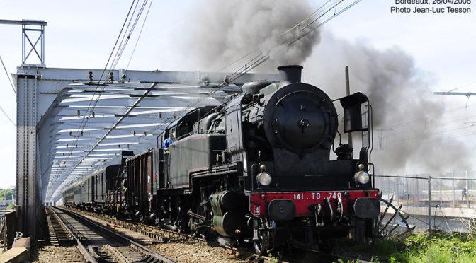 Dernier train vapeur Passerelle Bordeaux